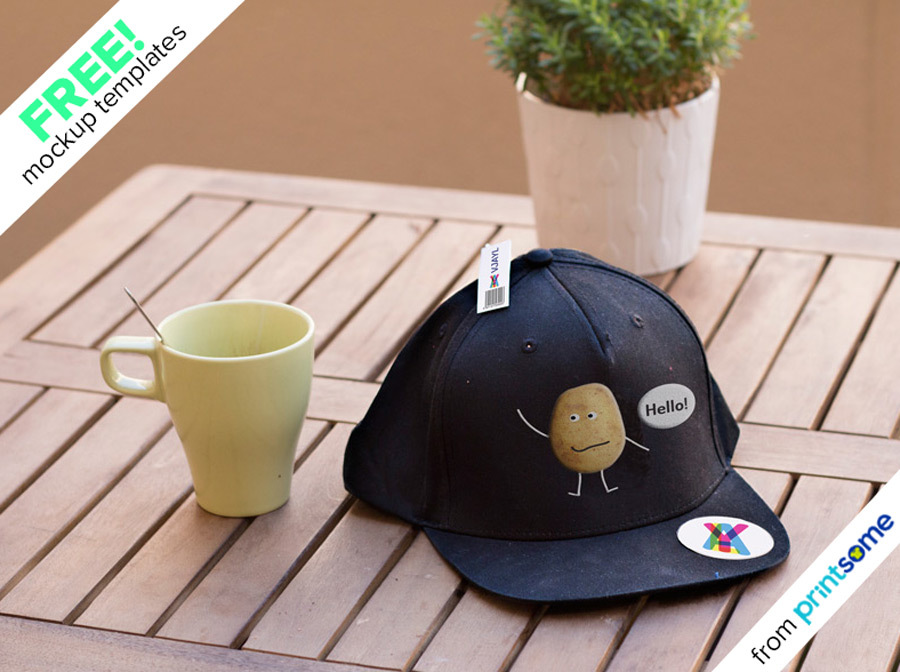 01_Hat-on-table-mockup, personalise a hat
