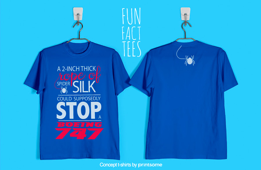 10.-spiders-and-boeing-747, Facts t-shirts
