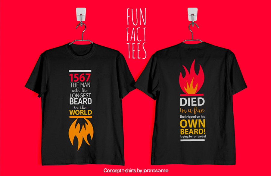 11.longest-beard-and-fire, Facts t-shirts
