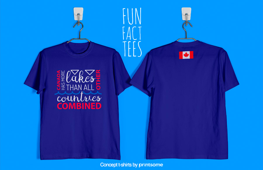 12.-Canada-and-lakes, Facts t-shirts