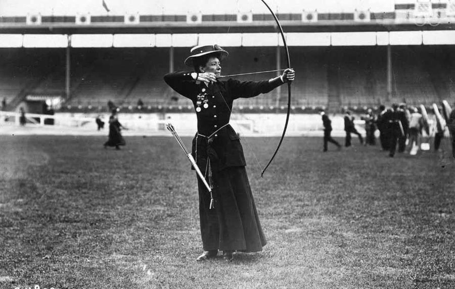 Beatrice Hill-Lowe of Ireland represented Britain at the 1908 Olympics in London and earned a bronze medal for archery.