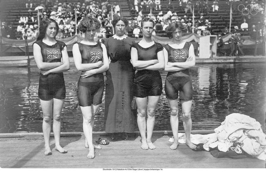 During the 1912 Stockholm Olympic Games, these swimsuits were considered indecent.