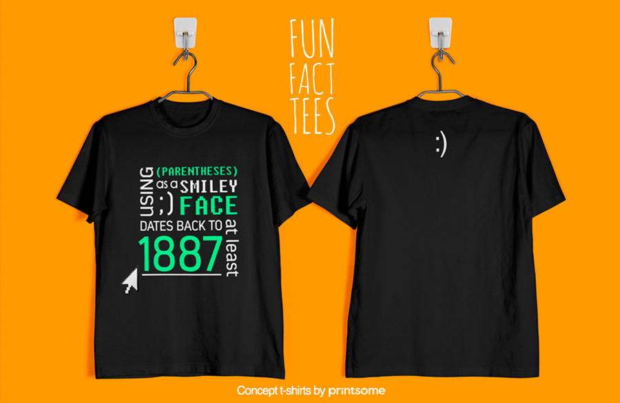 2.-Parentheses-and-smileys, Facts t-shirts