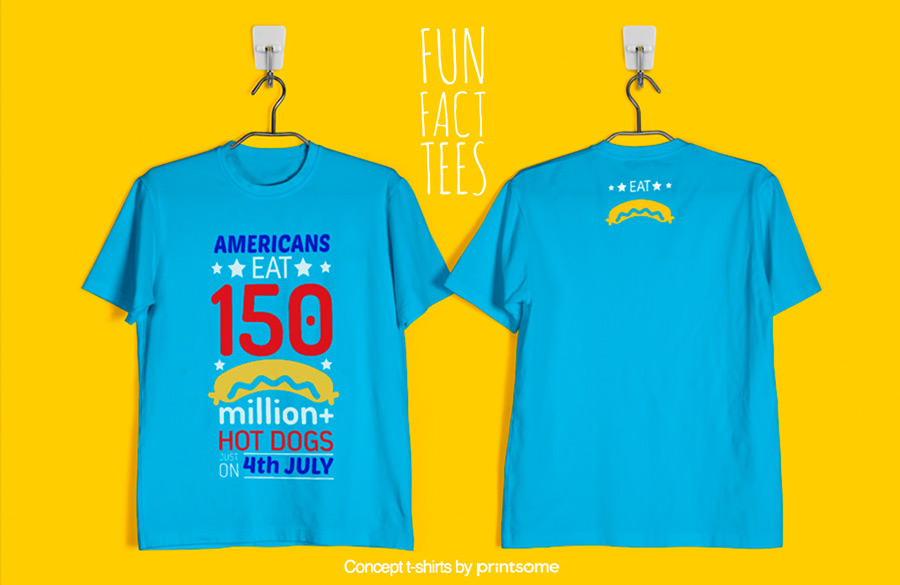 5.-americans-and-hot-dogs, Facts t-shirts