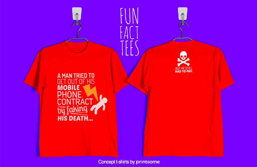 6.-mobile-phone-and-fake-death, Facts t-shirts