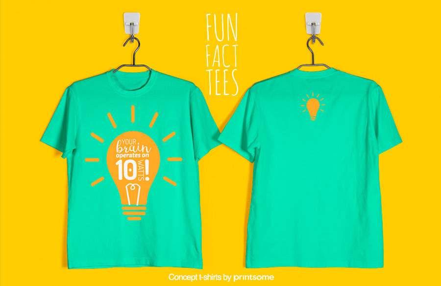 8.-brains-and-lighbulbs, Facts t-shirts