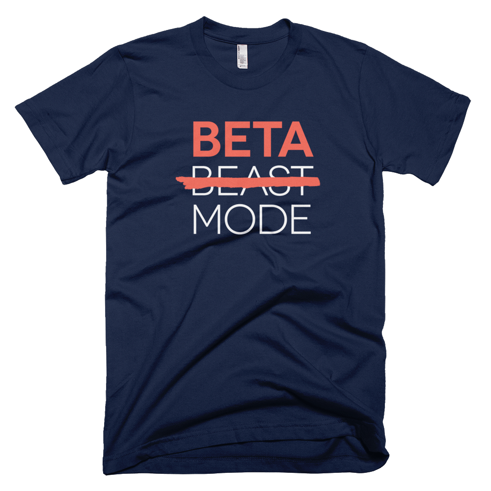 beta mode personalised t-shirt, personalised T-shirts for entrepreneurs