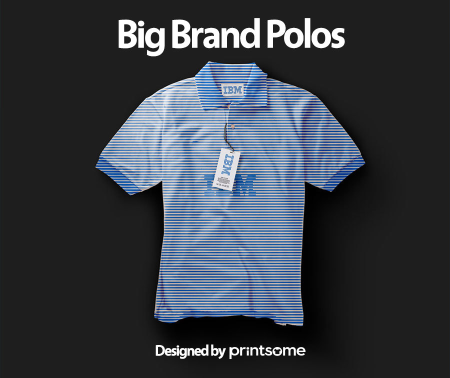 Big-brand-polos-IBM1, personalised polo shirts