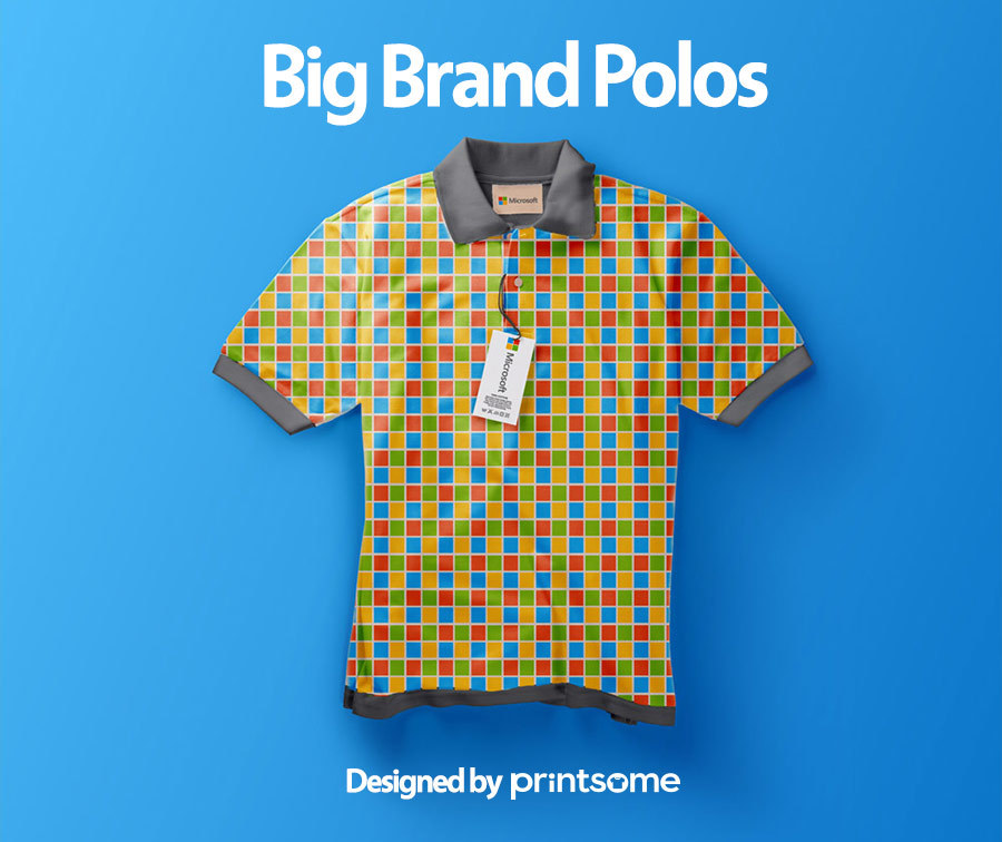 Big-brand-polos-microsoft1, personalised polo shirts