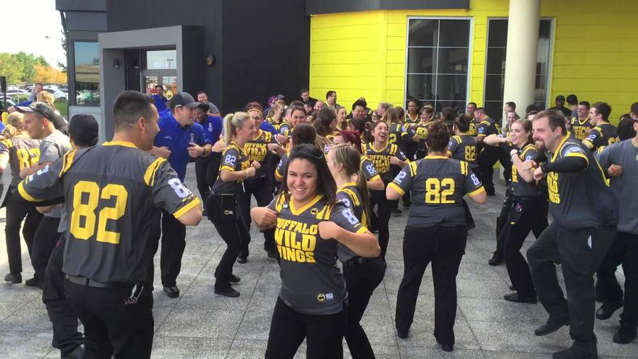 Buffalo Wild Wings uniform, vinyl t shirt printing