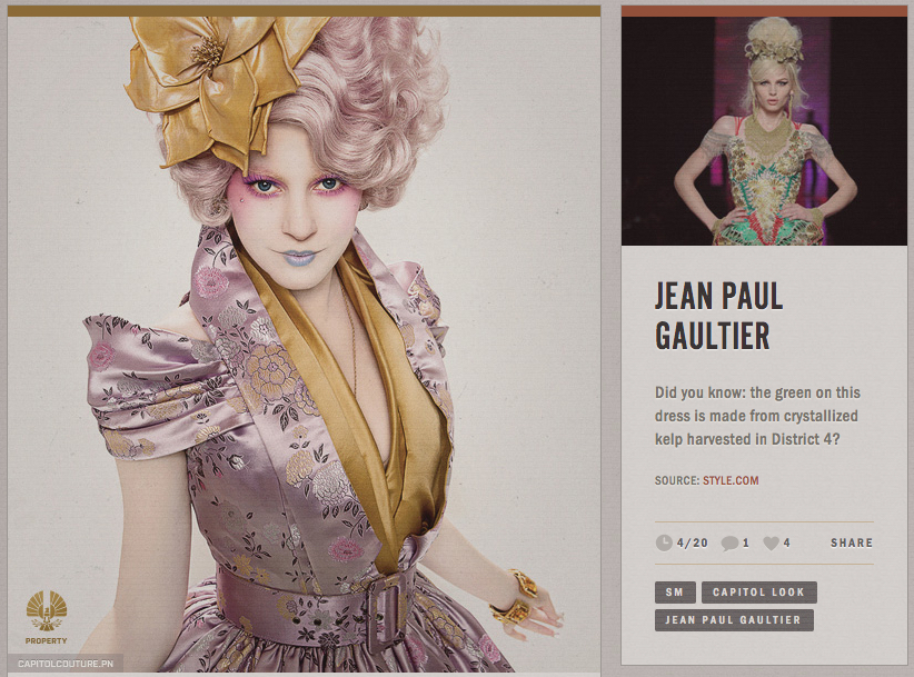 Screengrab of the Capitol Couture Blog