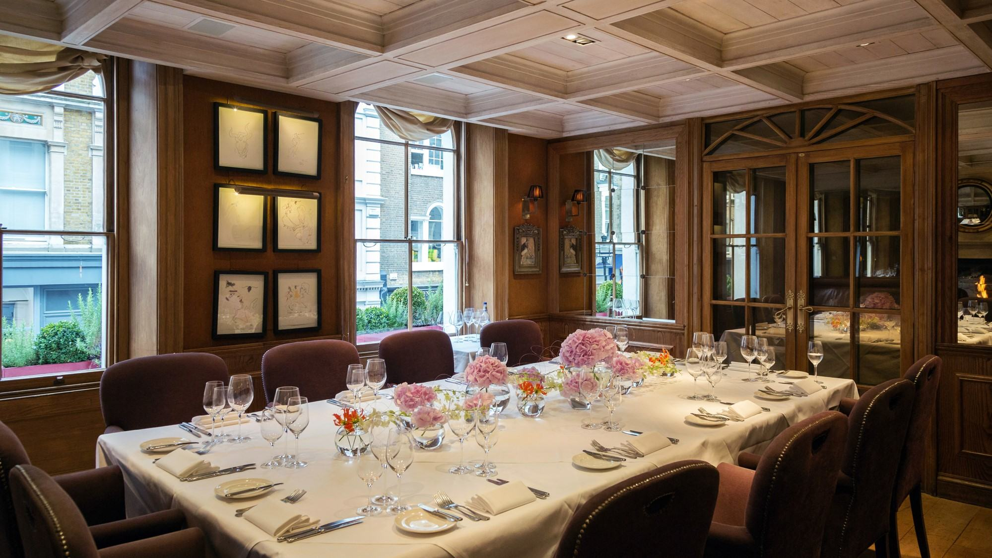 clos maggiore, private dining rooms london