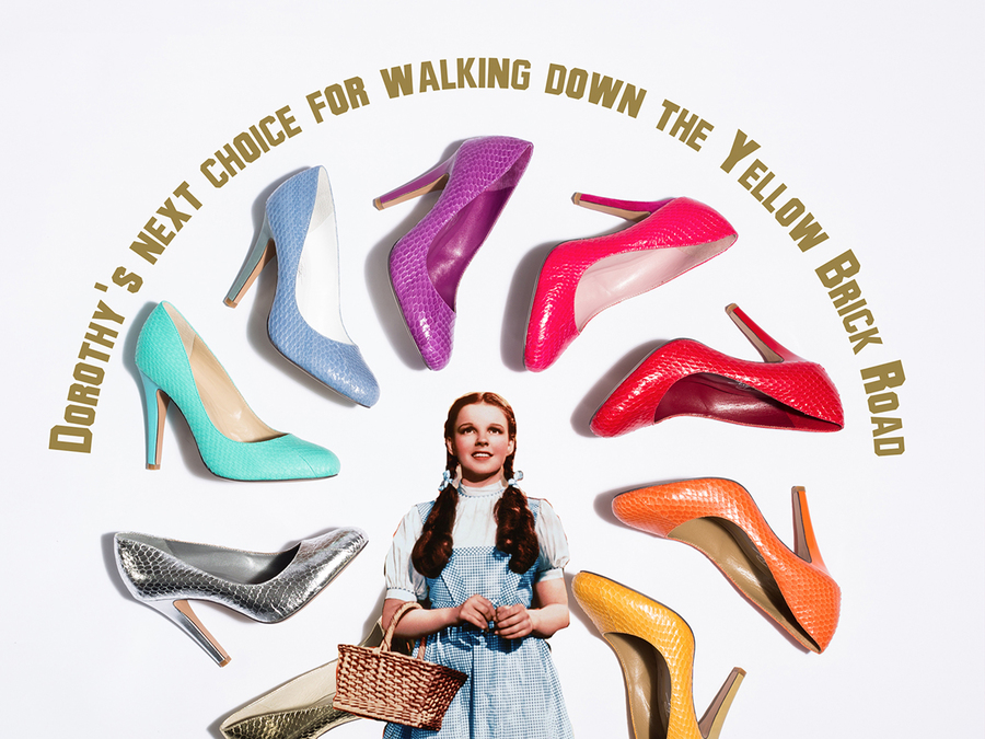 dorothy, wizard of oz, shoes of prey, brand ambassadors, fictional brand ambassadors,