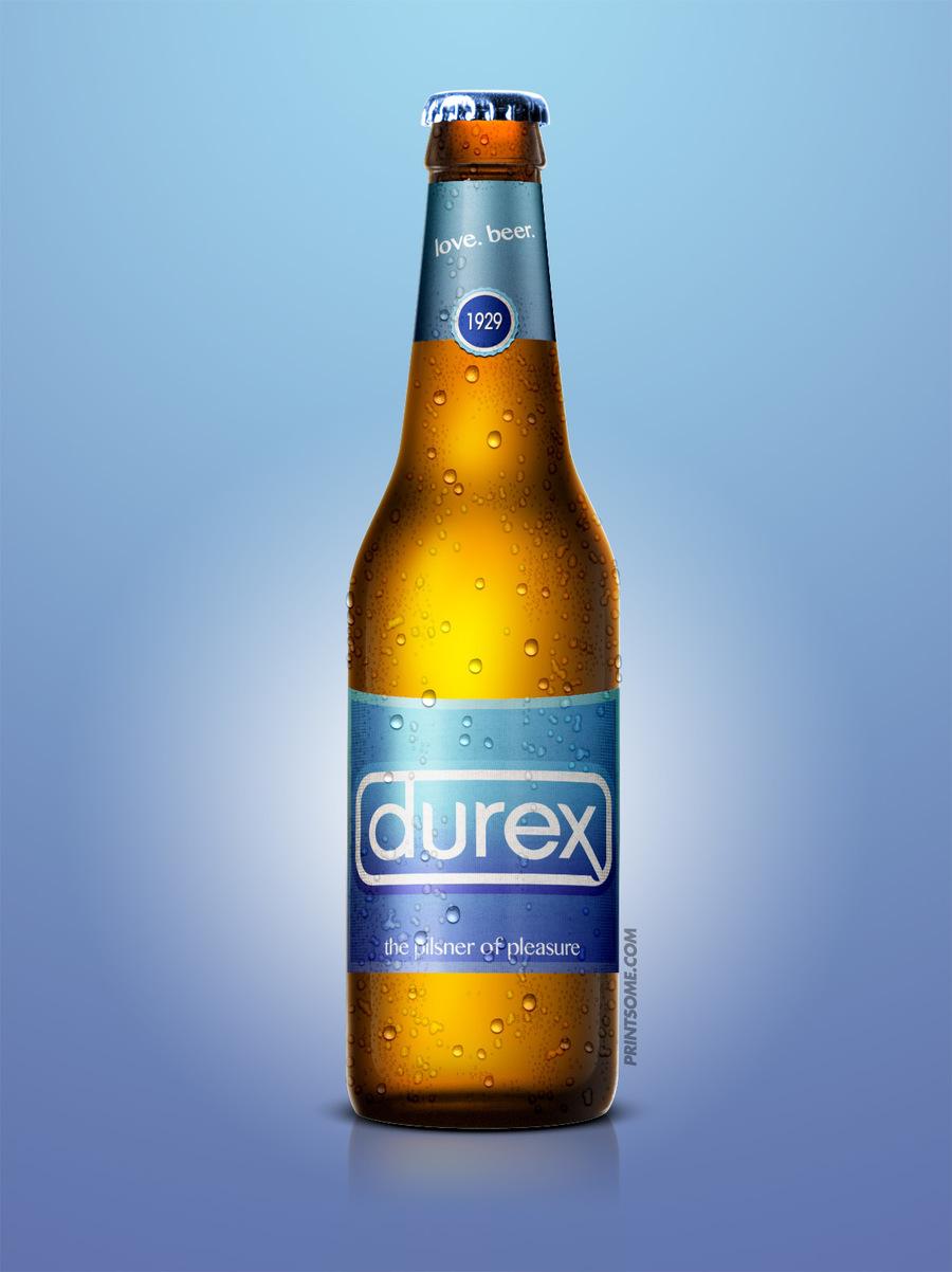 Durex, beer bottles
