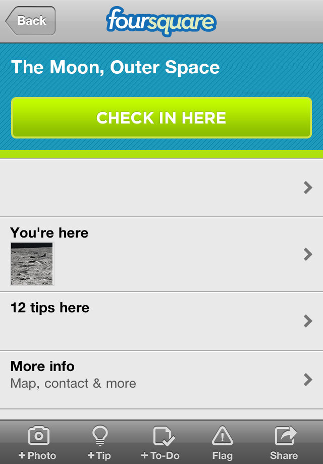 Foursquare-in-space