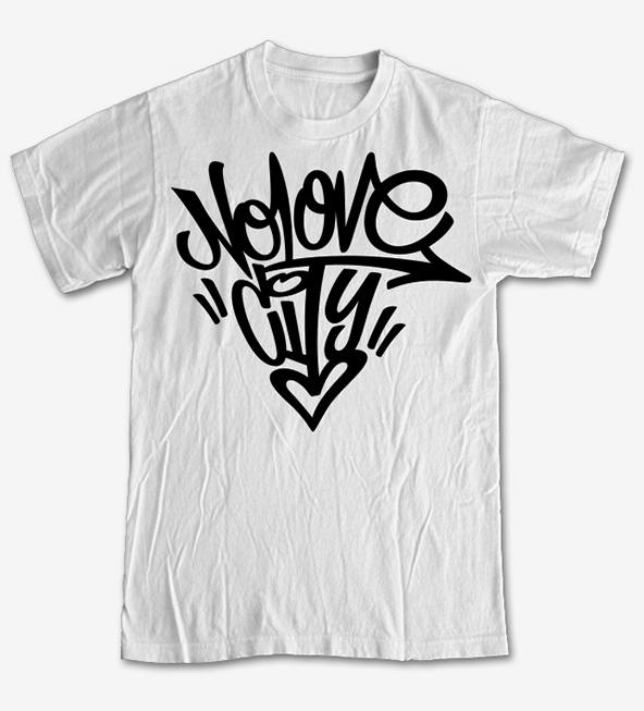 no love city, no love city t-shirt , graffiti t-shirt, t-shirt, graffiti t-shirts, screen printing