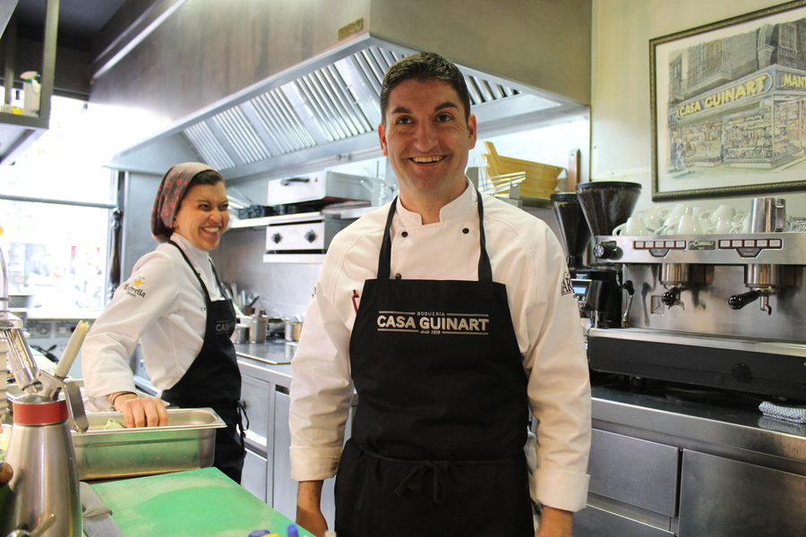 Guinart staff uniforms, personalised aprons