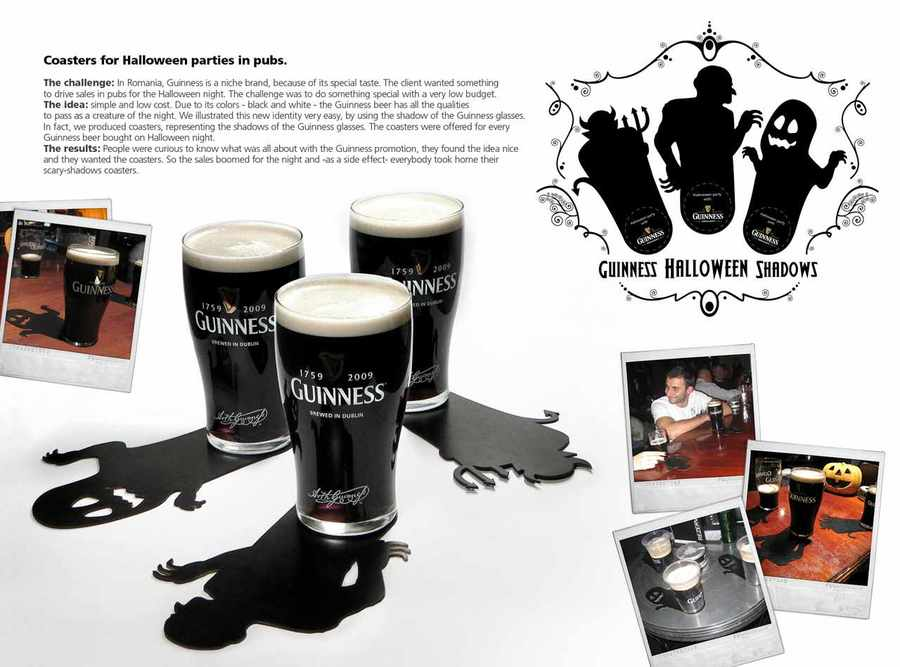 Guinness Halloween coasters