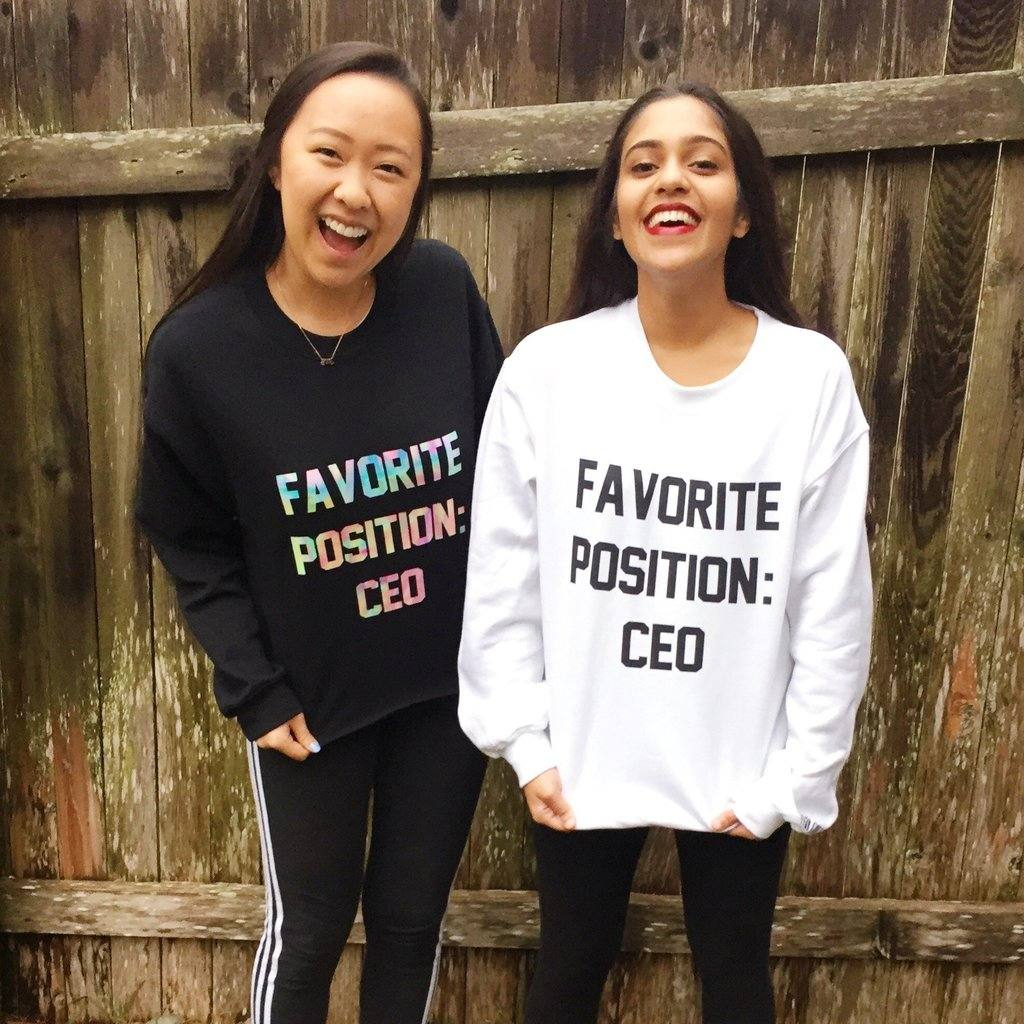 my favorite position CEO - personalised jumper, personalised T-shirts for entrepreneurs