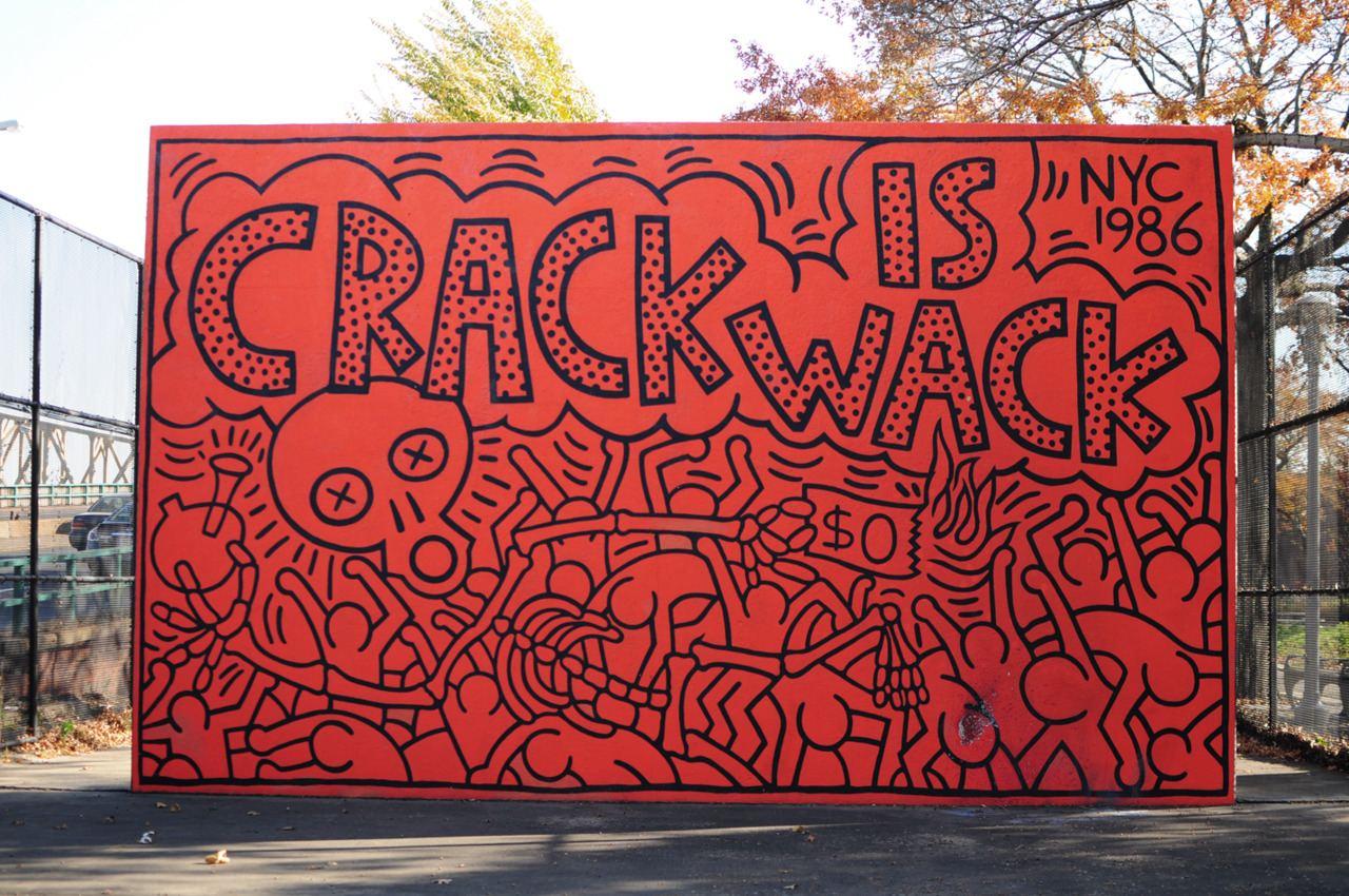 street art, keith haring, mural