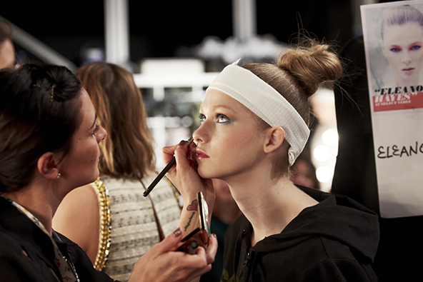 london, fashion, london fashion week, make up, model