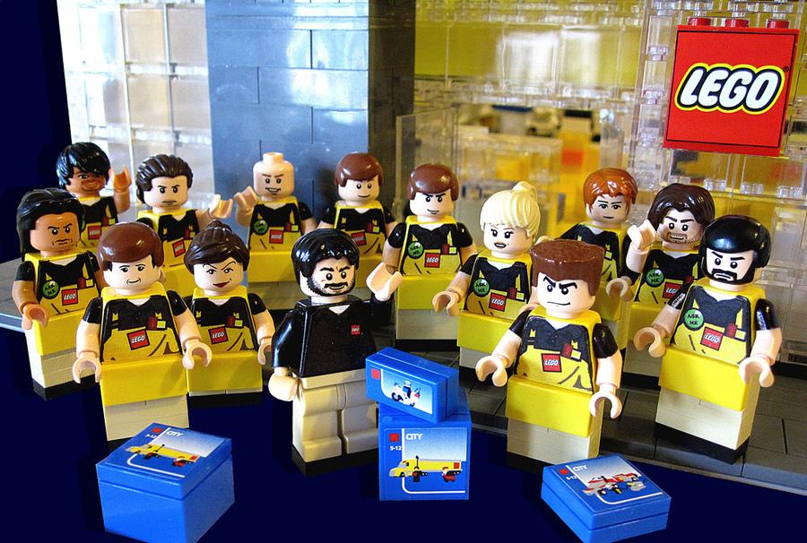 Lego employees lego