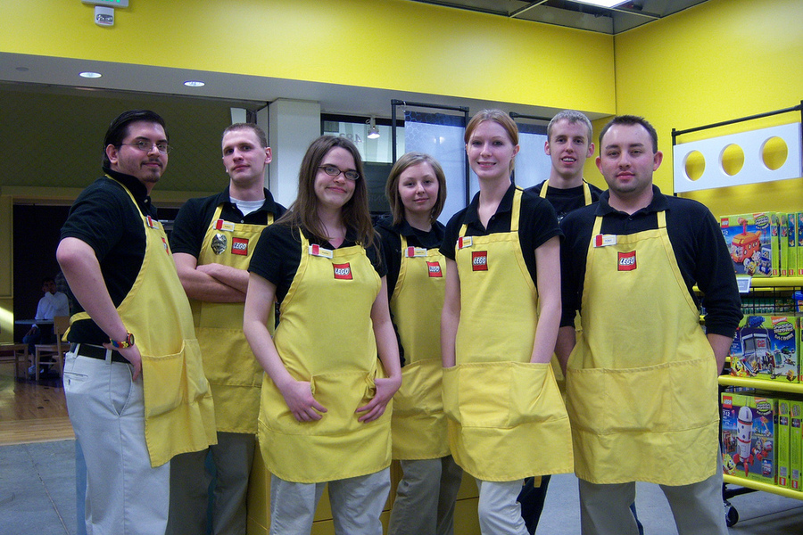 Lego uniforms, personalised aprons,