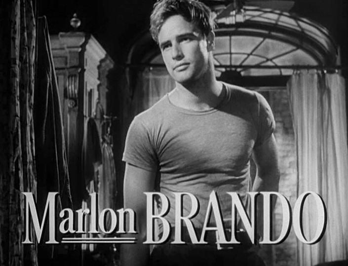 Marlon Brando wearing a T-shirt, workwear trend