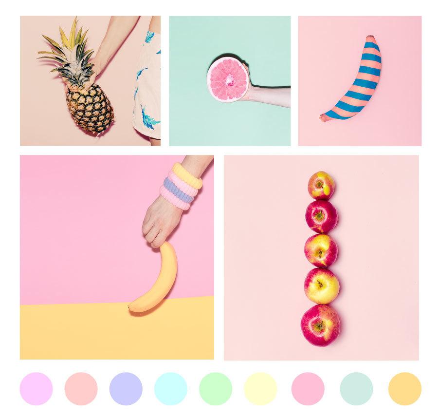 Pastel-moodboard