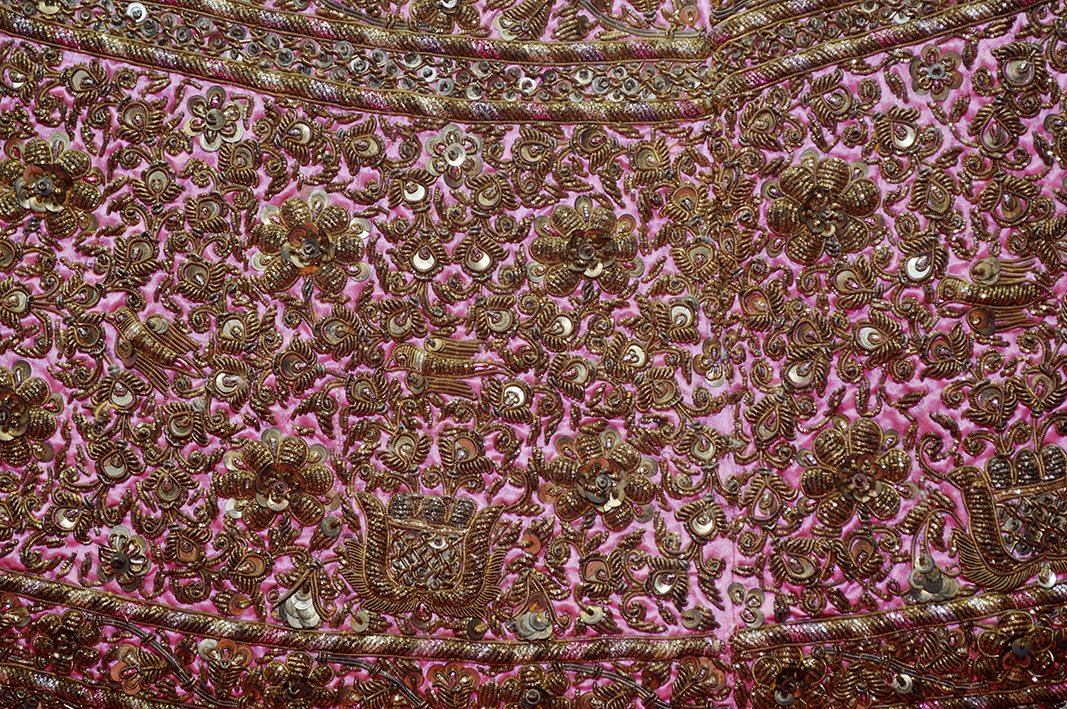 modern embroidery - pink dress