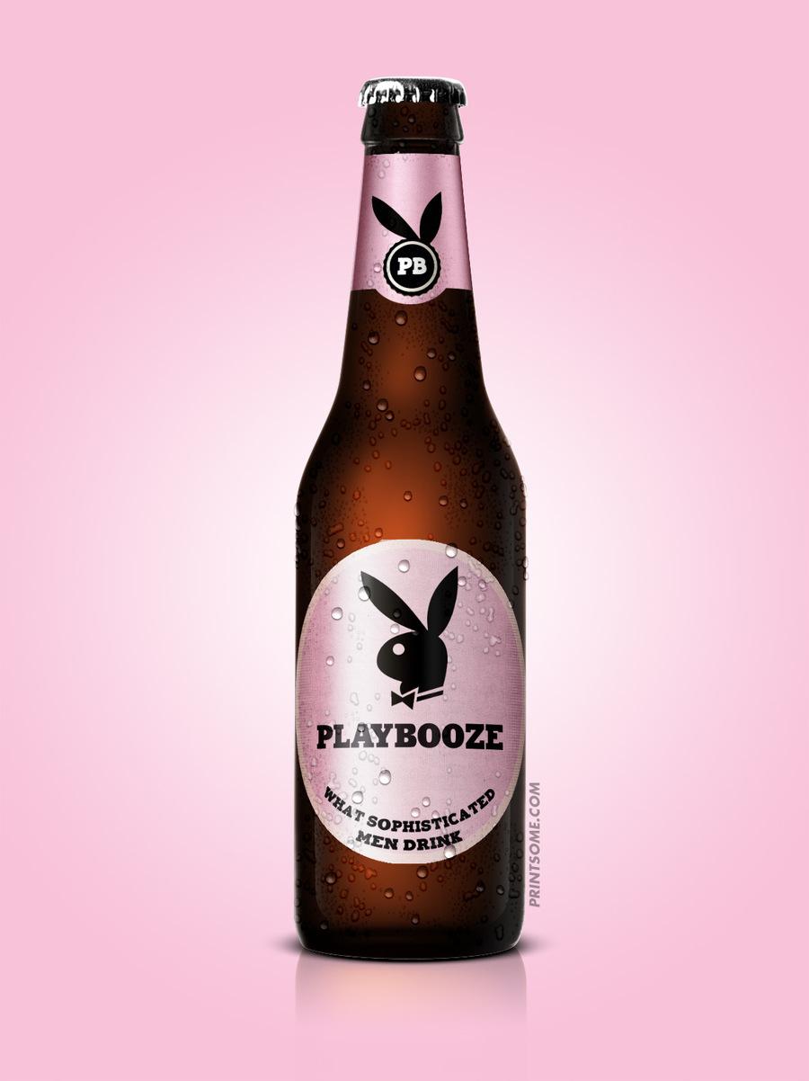 Playbooze, beer bottles