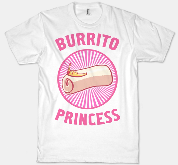 burrito princess, burrito princess t-shirt,