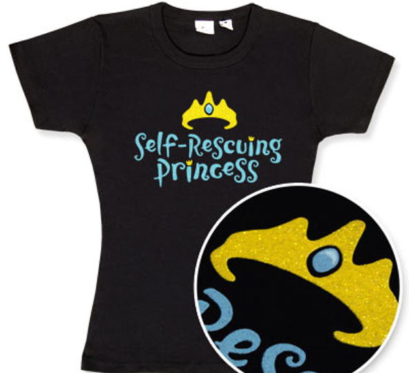 self rescuing princess, self rescuing princess t-shirt, princess t-shirt, princess,