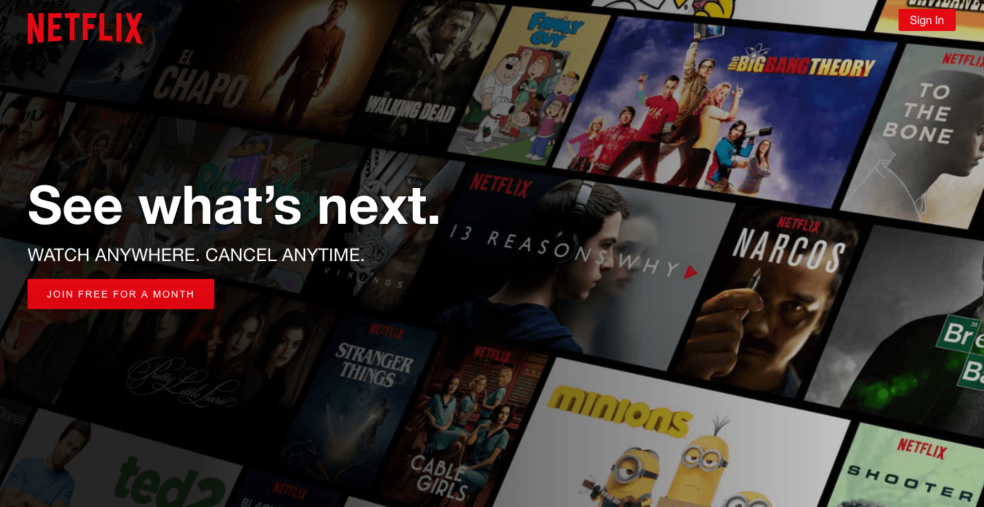 netflix, ui design trends