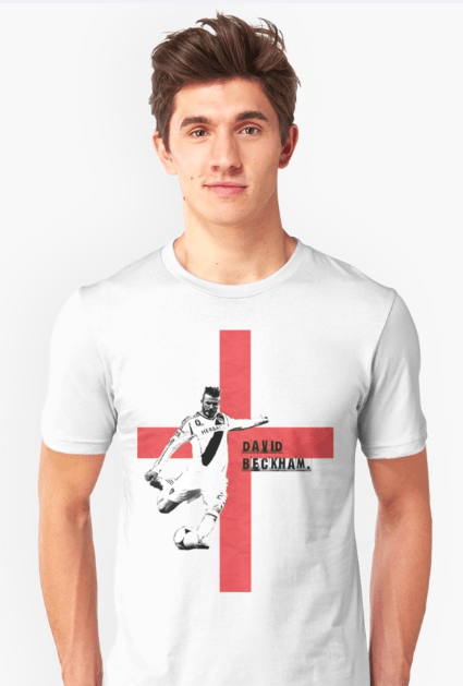 custom t-shirts uk, david beckham, white t-shirt