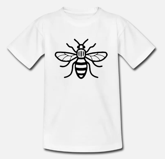 custom t-shirts uk, manchester bee
