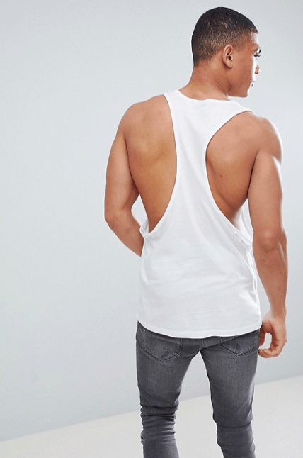 gym vests, asos, racer back, wide arm holes