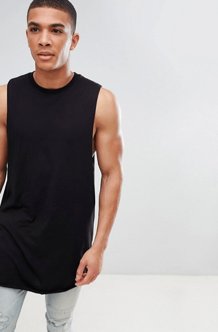 asos, longline, gym vests