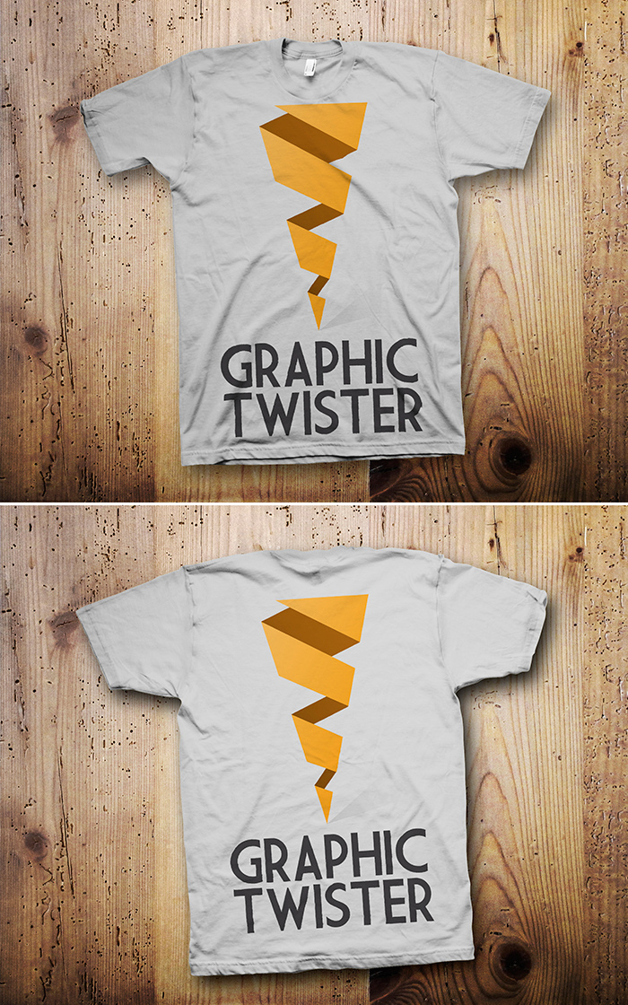 t-shirt mock up graphic twister