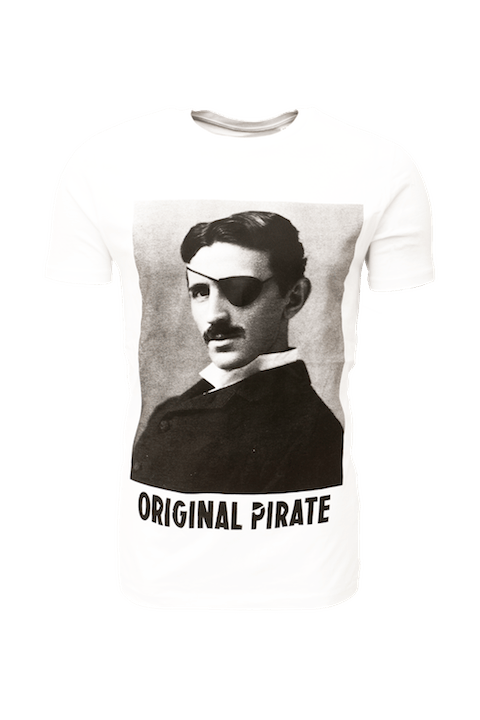 nikola tesla personalised t-shirt, personalised T-shirts for entrepreneurs