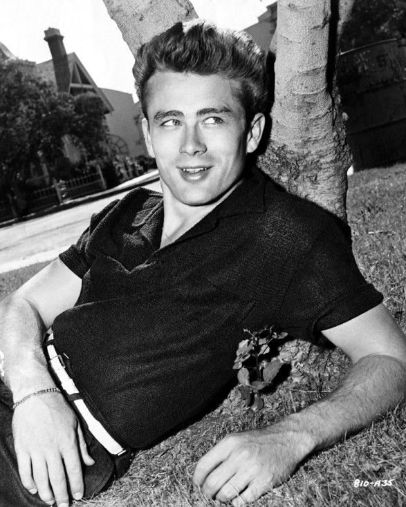 James Dean wearing a Jersey Polo Shirt