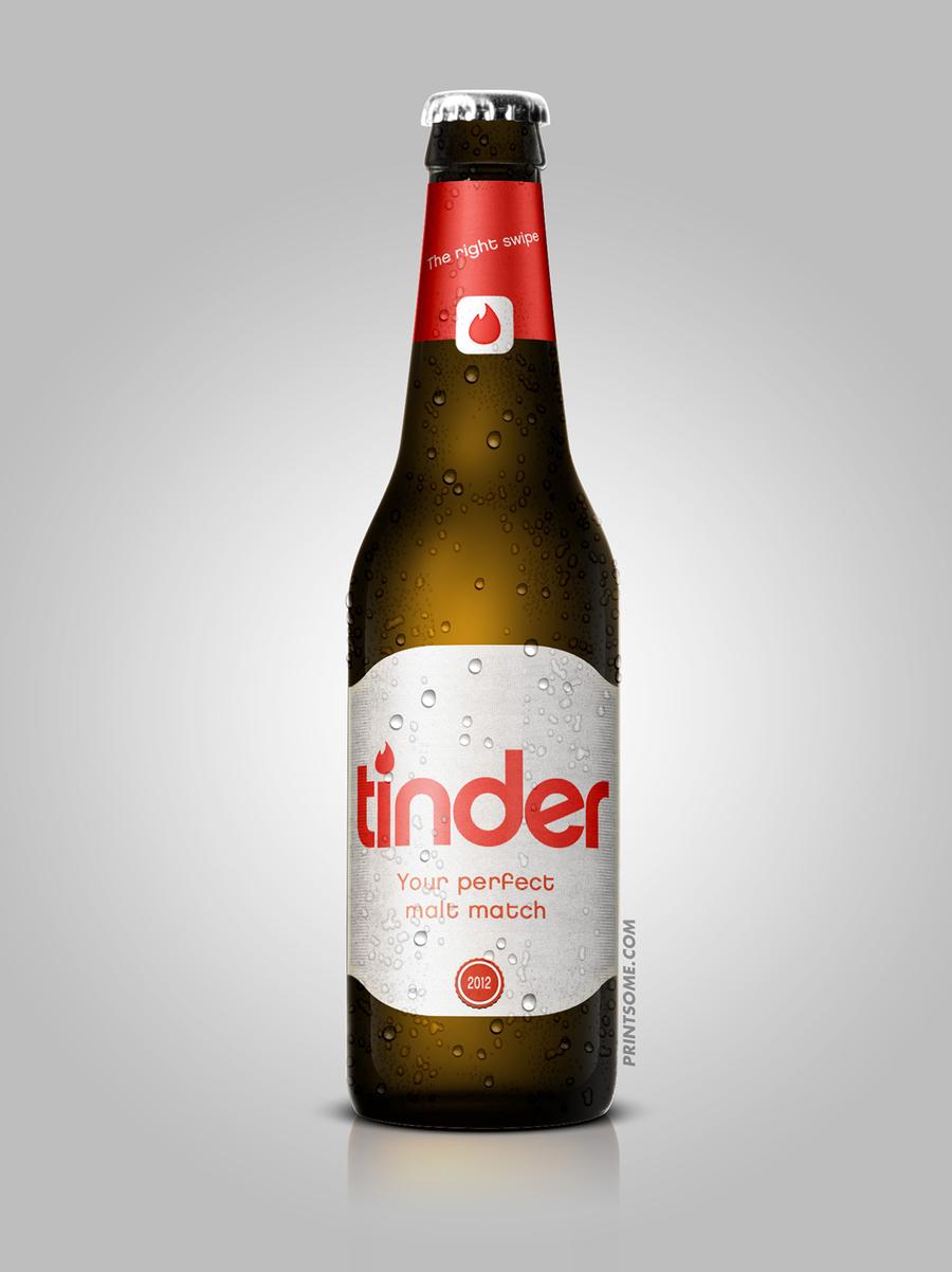 Tinder, beer bottles