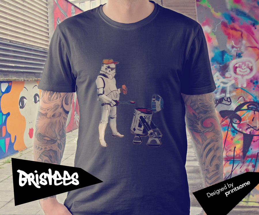RD2D, Britol Graffitis, T-shirt design by Printsome