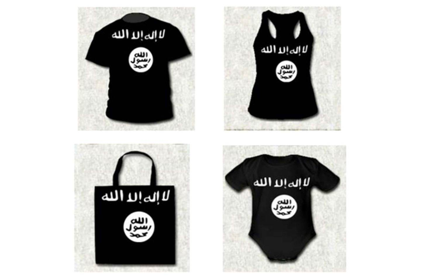 ISIS, controversial garments, t-shirt, tote bag, vest