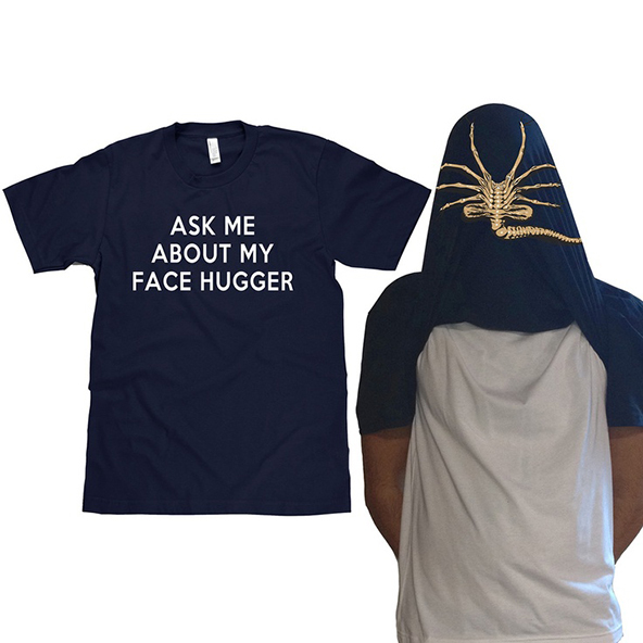 alien movie t-shirt, face hugger t-shirt, alien, face hugger, screen printing
