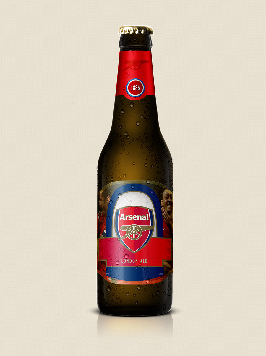 Arsenal Beer, Beer Designs, Brands into Beers