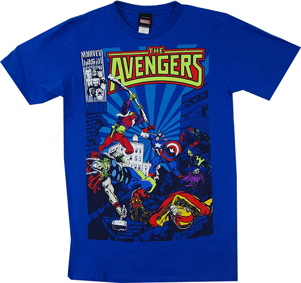 the avengers, the avengers t-shirt, iron man, thor, captain america, the hulk, superheroes, superhero t-shirts
