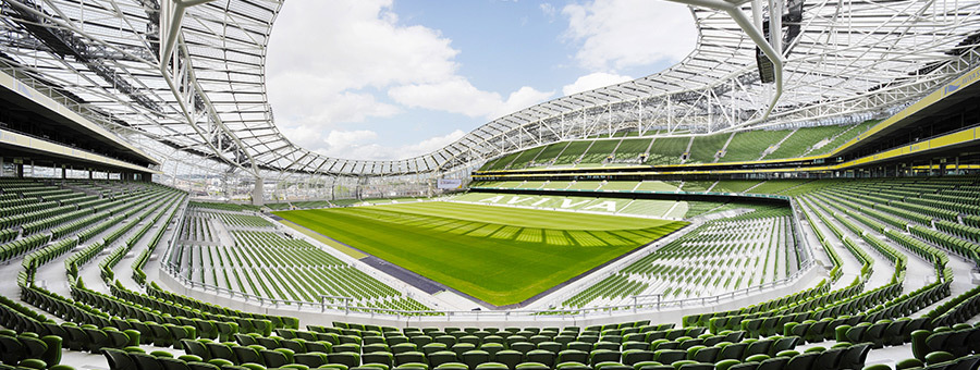 aviva stadium, sporting event venues, uk venue, 100 brilliant uk venue, sporting events