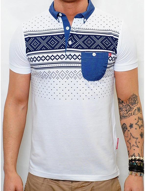 polo shirt, polo shirt printing, aztec print polo