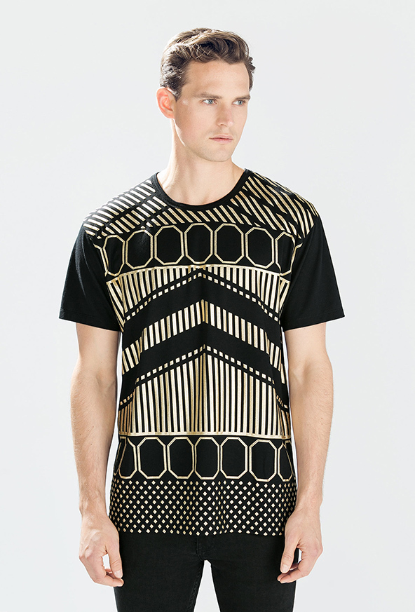 black geometric t-shirt, geometric patterns, geometric t-shirt
